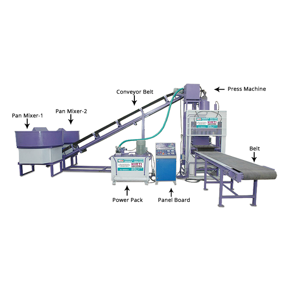 Fully Automatic Fly-Ash Bricks Making Machine with Belt