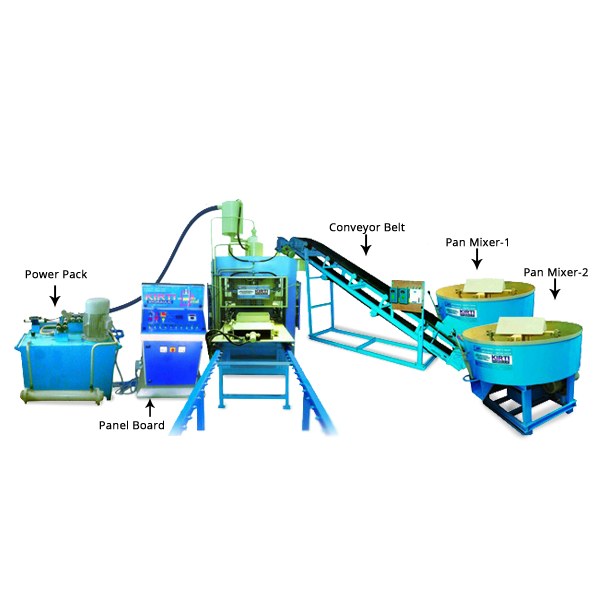Fully Automatic Fly Ash Brick & Paver Block Machine